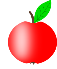 Apple-001-Red-Green-Leaf-300px